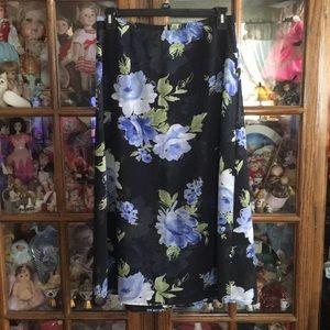 Emma James Floral Flowing Skirt Size 12